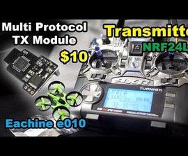Multiprotocol TX Module for FrSky Taranis Turnigy 9XR NRF24L01 Eachine E010
