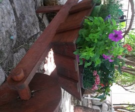 Rustic Wheelbarrow Flower Planter