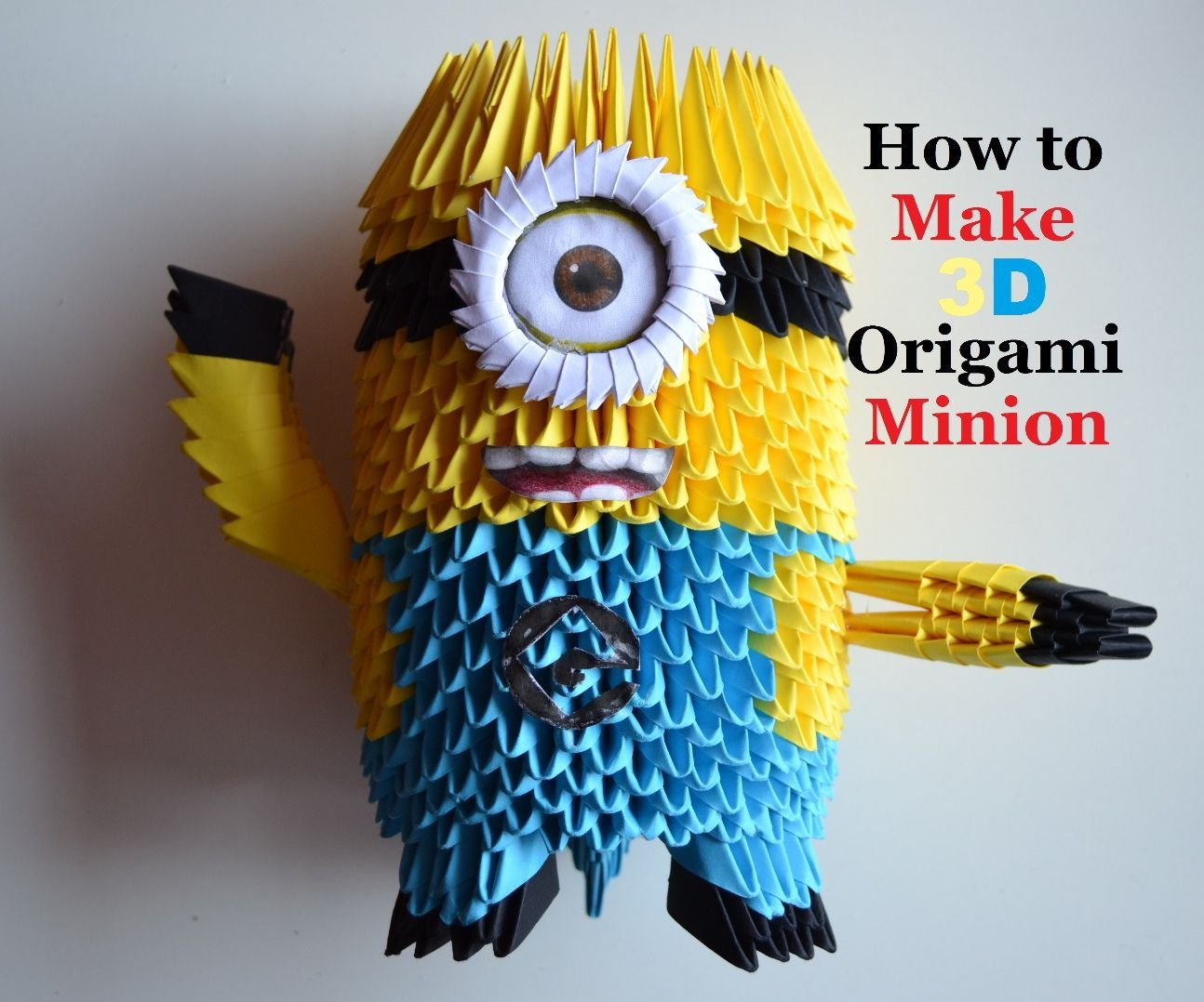 How To Make An Origami Minion Birthday Gifts 3d Toys