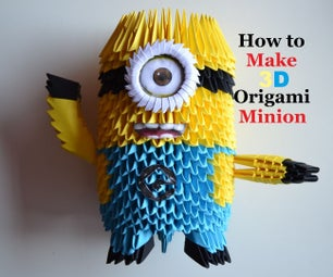 How to Make an Origami Minion | Birthday Gifts - 3D Toys | DIY Paper Crafts