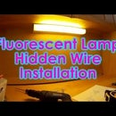 Easy Hidden Wire Fluorescent Desk Lamp Installation