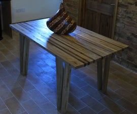 Strip Table in oak and walnut