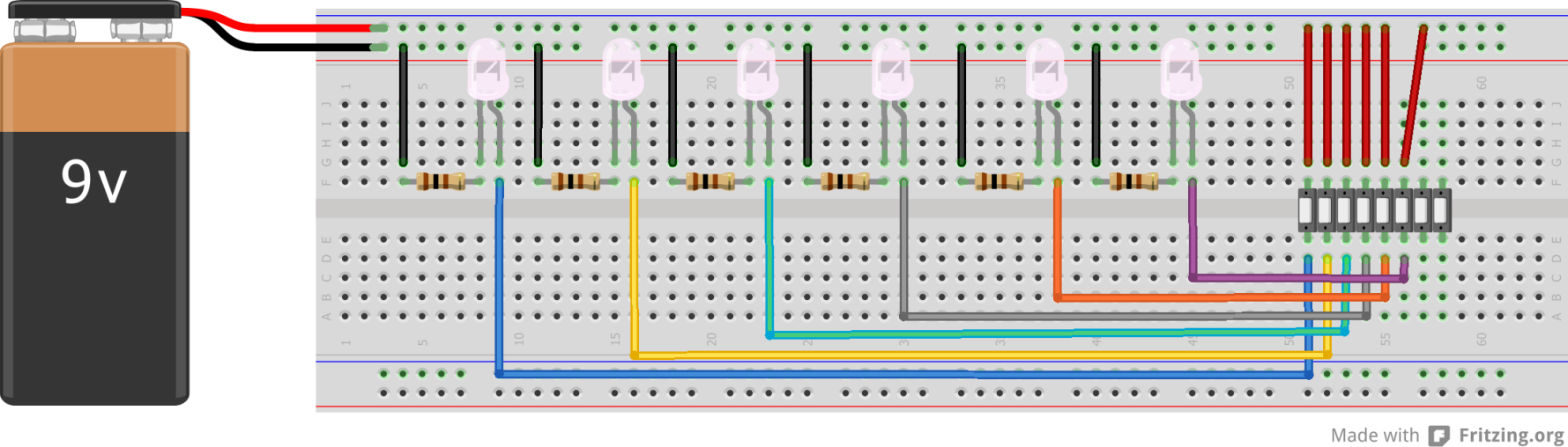 Picture of Making the Circuit on Breadboard