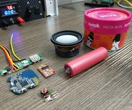 DIY Portable Bluetooth Speaker With Powerbank.