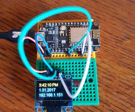 ESP8266 OLED Clock IoT Using AJAX
