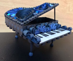 Paper Quilled Grand Piano
