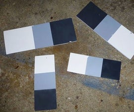 Cheap and Disposable Gray / White / Black Color Balance Card