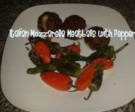 Italian Mozzarella Meatballs With Peppers Recipe