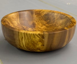 Turning an Olive Wood Bowl