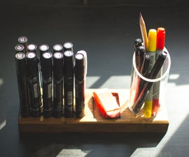Sketching Tool Holder From Wood & Acrylic