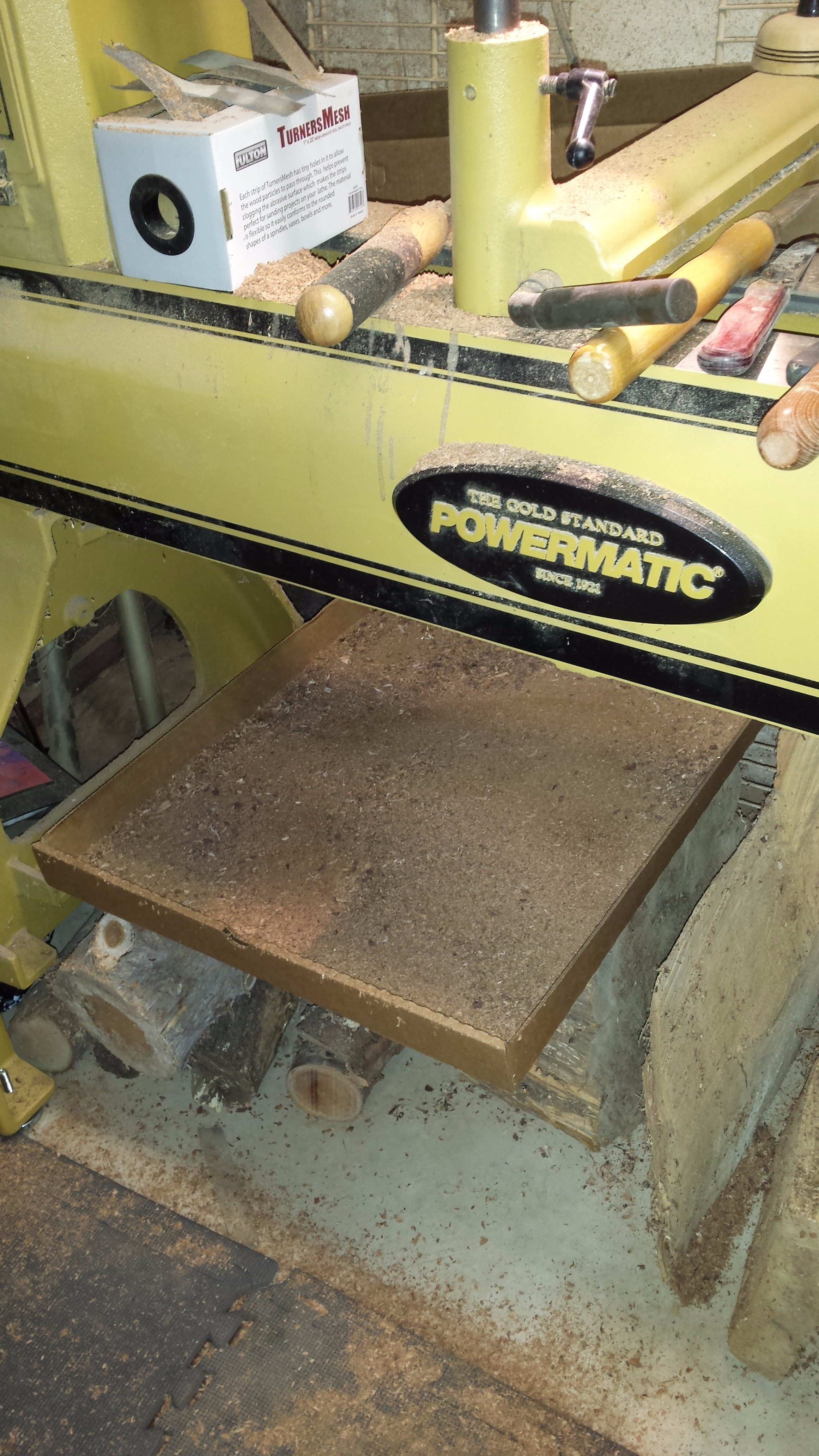 Picture of Cardboard Uses in My Workshop  -- Lathe Related
