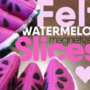 Felt Sewn Watermelon Slices Toy