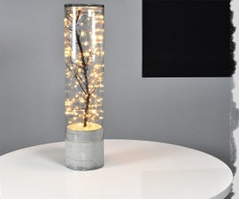 DIY Indoor Outdoor concrete lamp 2