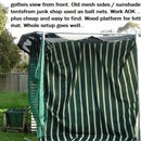 Golf practice net from recycled trampoline