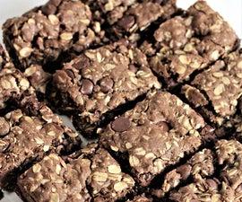 Chocolate Chocolate Chip Oatmeal Bars