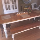 Another Farmhouse Table (and Benches)