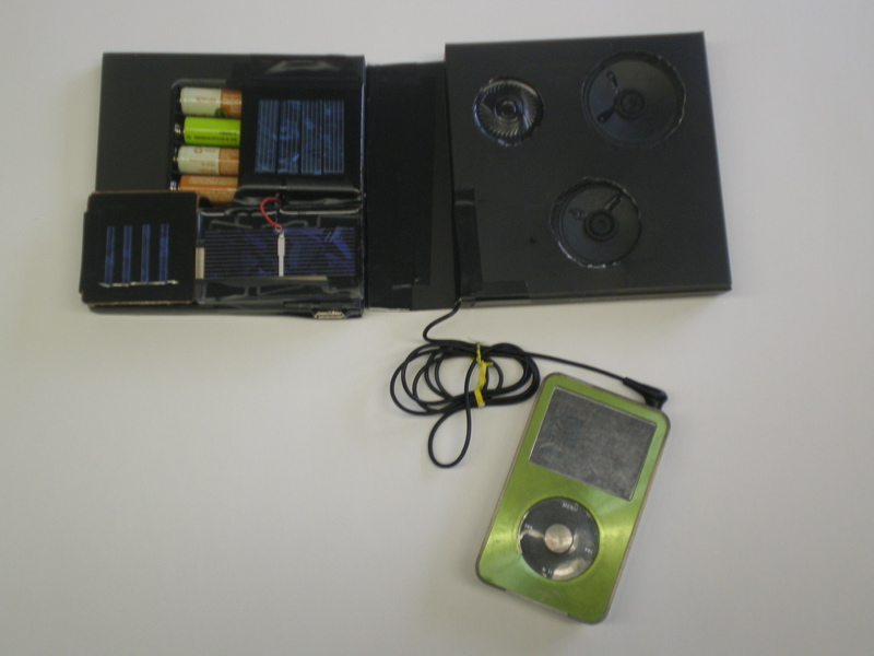 Picture of Simple Solar Powered USB Charger and Speakers
