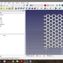 Advanced Hexagonal Mesh in Freecad