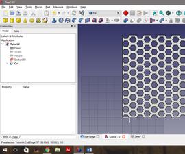 Advanced Hexagonal Mesh in Freecad