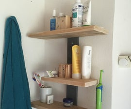 Bathroom shelf made of pallet wood