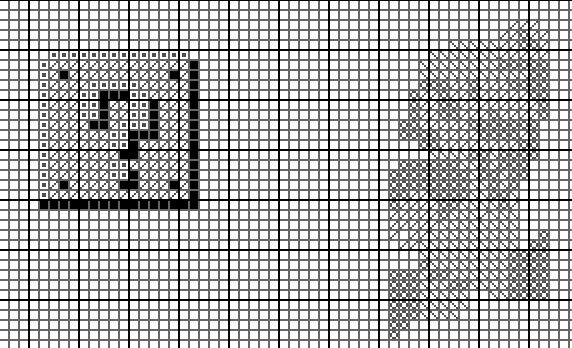 Picture of Cross-stitch Pattern in Photoshop (with Symbols!)