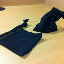 Drawstring Pouch From T-Shirt Sleeve