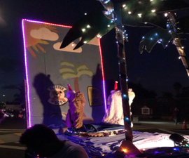 Backdrop for a Parade Float