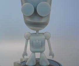 "Make Gir (from ""Invader Zim"") using 123D Design"