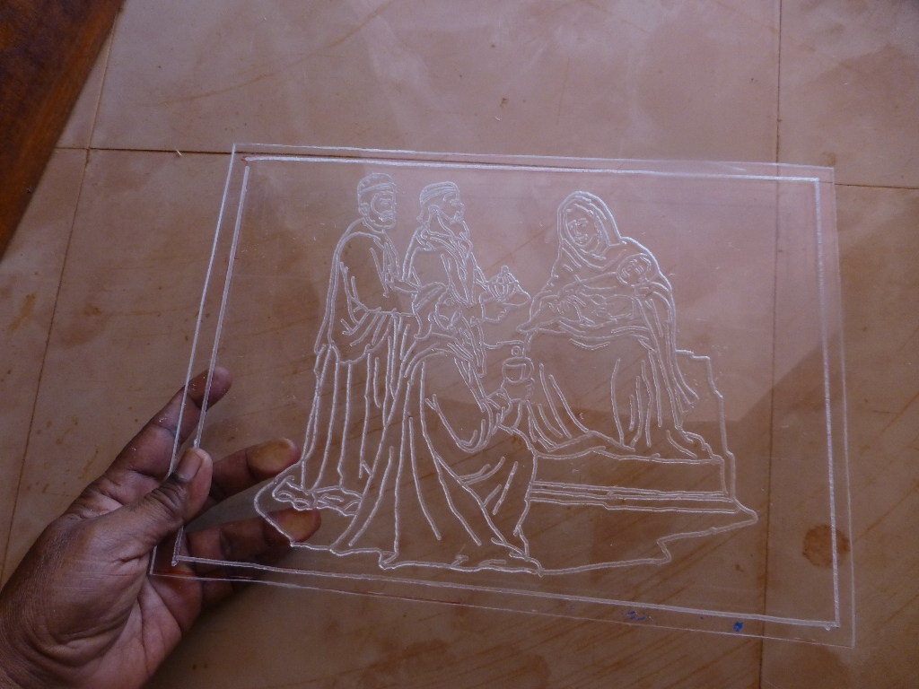Picture of Routing Line Art on Acrylic Sheet