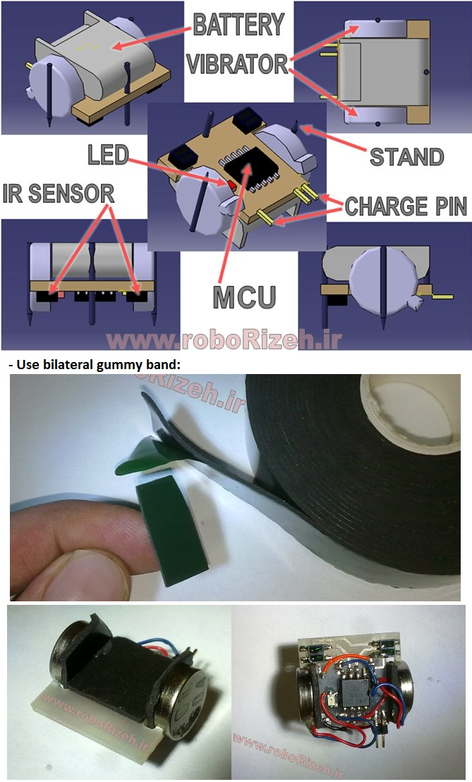 Picture of Mount the Vibrators and Stands and Battery:
