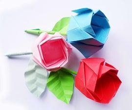 DIY Origami Rose *step by Step