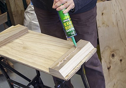 Put Adhesive on the Timber