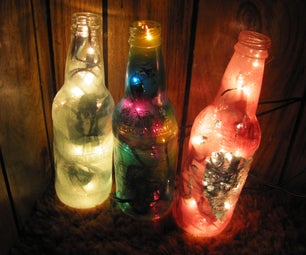 Colorful Recycled Bottle Lamp