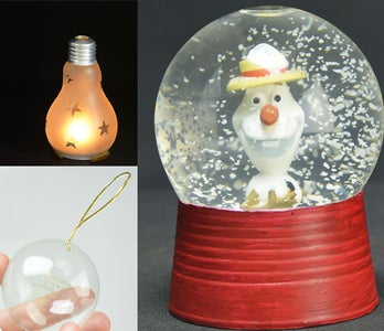3 Christmas Decorations Made From Light Bulbs