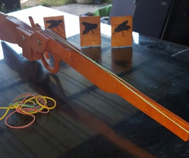 Rubber Band Gun Toy (ply Board)