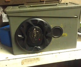 cheap and easy Bluetooth ammo can speakers
