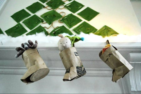 Stuffable Origami Stockings