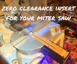 How to Make a Zero Clearance Insert for Your Miter Saw (and Why?)