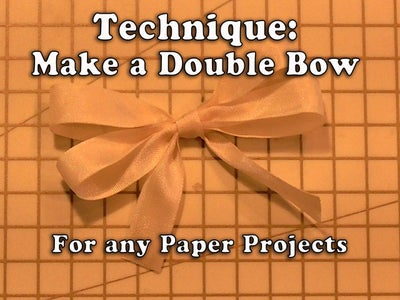 How to Make a Fancy Ribbon Double Bow for Your Crafts