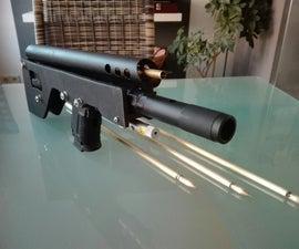 "DIY CO2 Airgun - Arrow Shooter - the German ""Pfeilwurfgerät"""