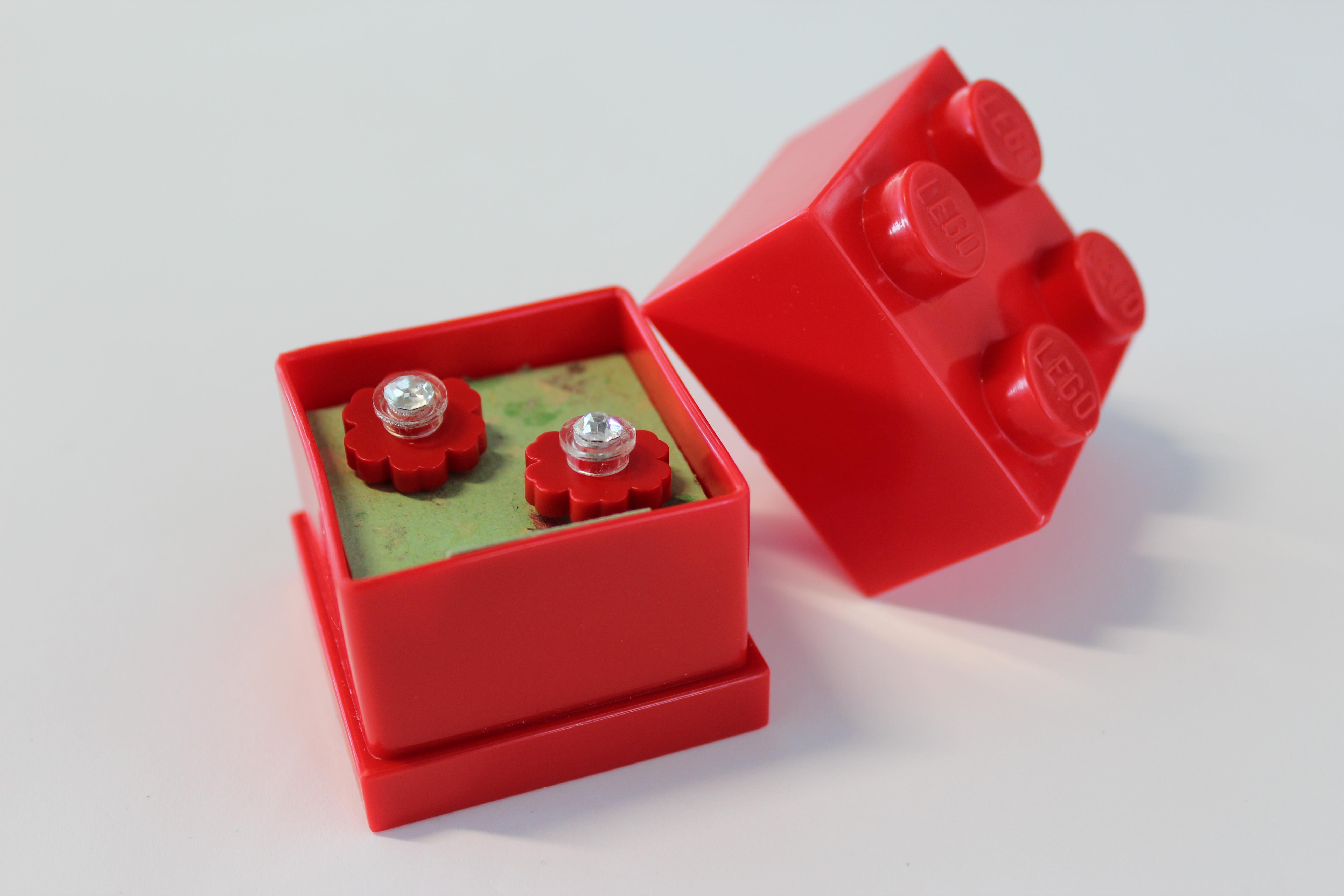 Picture of Lego Flower Earrings