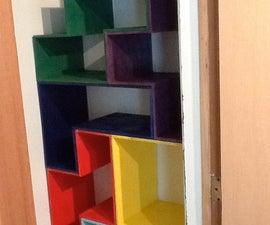 Tetris shaped board game closet