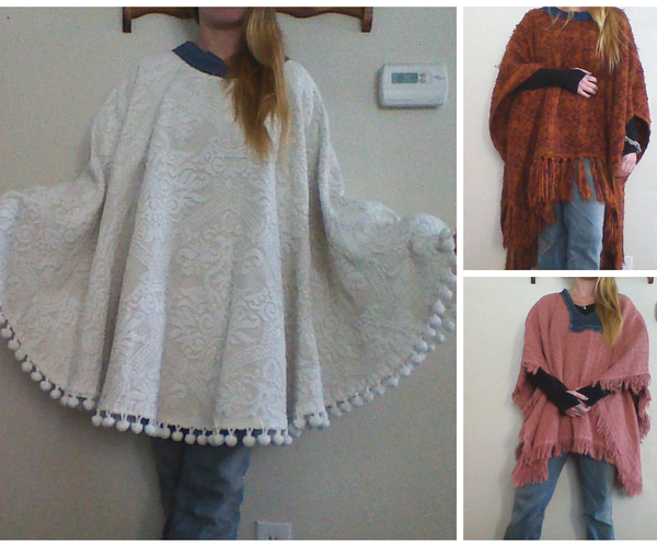 Easy Poncho Out of Almost Anything.