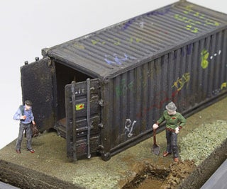HO Scale Shipping Container Surprise Reveal Diorama.