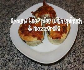 Ground Beef Pies With Spinach & Mozzarella Recipe
