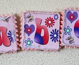 3x3 Canvas Letter Wall-hanging