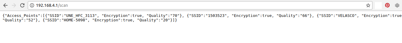 Picture of Parameter Reading Via JSON From Browser in Configuration Mode