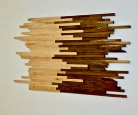 Scrap Wood Wall Art Made From Walnut & Maple | How to Build