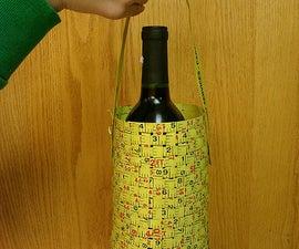 Metal Measuring Tape Wine Tote