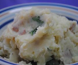 Vegan Mashed Potatoes with Kale